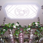 Square drummond with white frame & leadlight